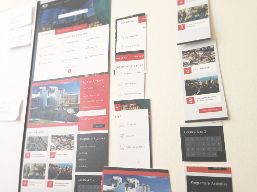 UX research wall